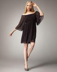 Alice + Olivia Purple Belle Convertible Dress