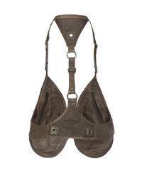 AllSaints - Brown Rhyder Utility Vest - Lyst