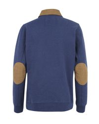 Barbour - Blue Branscombe Warm Up Sweater for Men - Lyst