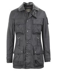Barbour | Black Waxed Field Jacket for Men | Lyst