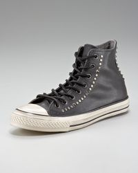 Converse | Black Studded Leather Hi-top for Men | Lyst