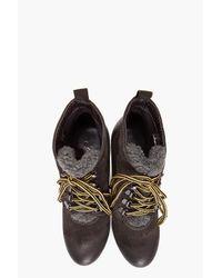 DIESEL Brown Enos Wedge Boots