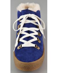 F-Troupe Blue High Top Sneakers