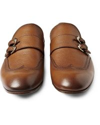 Gucci - Brown Moccasin with Double Monk Strap for Men - Lyst