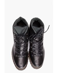 J.Lindeberg Black Alpino Leather Boot for men