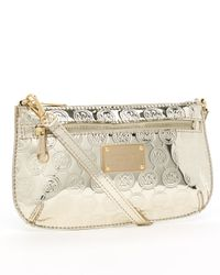 MICHAEL Michael Kors Metallic Jet Set Monogram Large Wristlet