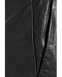Boutique Moschino Black Skinny Leather Pants