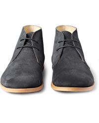 Opening Ceremony Blue M1 Suede Desert Boots for men