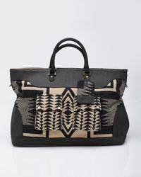 Pendleton | Black Luggage Bag Blk/tan Harding | Lyst