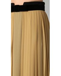 Robert Rodriguez | Metallic Side-pleated Skirt | Lyst