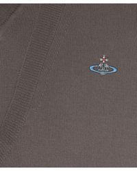 Vivienne Westwood - Natural Brown Double V-neck Long Sleeve Jumper for Men - Lyst