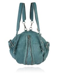 Alexander Wang Blue Marti Backpack with Nickel Hardware