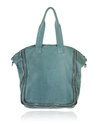Alexander Wang Blue Trudy Tote with Nickel Hardware