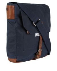 Ally Capellino | Blue Navy Slim Waxed Cotton Jonathon Messenger Bag for Men | Lyst