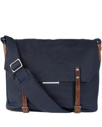 Ally Capellino | Blue Navy Waxed Cotton Jeremy Messenger Bag for Men | Lyst