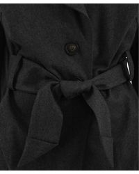 Vivienne Westwood Anglomania Gray Grey Onset Belted Drape Coat