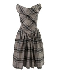 Vivienne Westwood Anglomania Gray Grey Tartan Marghi Dress