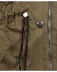 Vivienne Westwood Anglomania - Green Khaki Drawstring Parka Jacket - Lyst