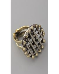 Anndra Neen - Metallic Circle Cage Ring - Lyst