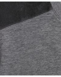 A.P.C. - Gray Shoulder Panel Sweater for Men - Lyst