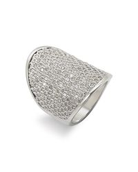 Ariella Collection | Metallic Multi Row Cubic Zirconia Ring | Lyst
