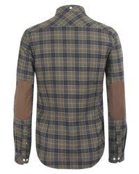 Barbour | Natural Khaki Check Hexham Shirt for Men | Lyst