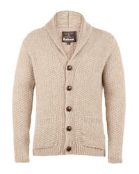 Barbour | Natural Oatmeal Moss Shawl Collar Cardigan for Men | Lyst