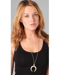 Belle Noel Metallic Rams Horn Pendant Necklace