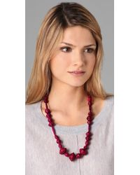 Bluma Project   Pink Ola Paper Bead Necklace   Lyst