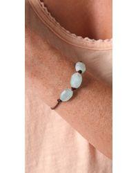 Club Monaco - Blue Seaglass & Leather Bracelet - Lyst