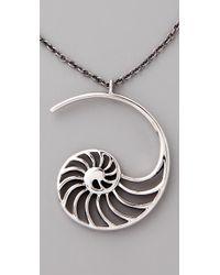 Elizabeth and James - Metallic Sliced Nautilus Pendant Necklace - Lyst