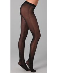 Falke Black Opaque Checks Tights