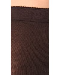 Falke Brown Striggings Cable Knit Tights