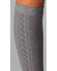 Falke - Gray Striggings Cable Knit Knee High Socks - Lyst