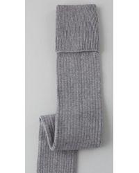 Falke Gray Striggings Ribbed Over The Knee Socks
