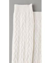 Falke - White Striggings Cable Knit Knee High Socks - Lyst