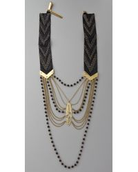 Fiona Paxton | Black Rosetta Suede Necklace | Lyst