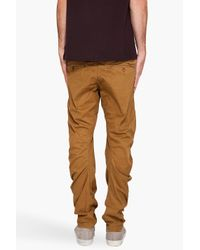 G-Star RAW | Brown New Omega Arc Trousers for Men | Lyst