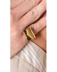 Gemma Redux - Metallic Envelopment Ring - Lyst