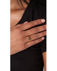Gorjana   Metallic Blake Faceted Ring Set   Lyst
