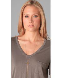 Gorjana - Metallic Love Knot Tassel Necklace - Lyst