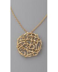 House of Harlow 1960 Metallic Antler Pendant Necklace