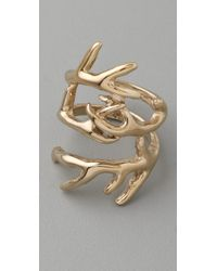House of Harlow 1960 Metallic Antler Wrap Ring