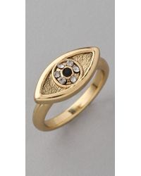 House of Harlow 1960 - Metallic Horizontal Evil Eye Ring - Lyst