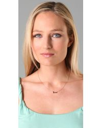 Jennifer Zeuner | Metallic Cursive Love Necklace | Lyst