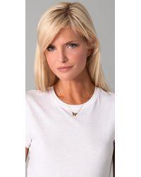 Jennifer Zeuner Metallic Integrated Butterfly Necklace