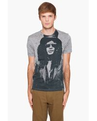 John Varvatos | Gray Slash Graphic Tee for Men | Lyst