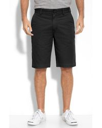 John Varvatos | Black Frayed Hem Cotton Shorts for Men | Lyst