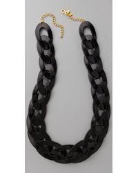 Kenneth Jay Lane   Black Link Necklace   Lyst