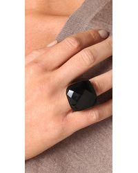 Kenneth Jay Lane Black Onyx Square Ring
